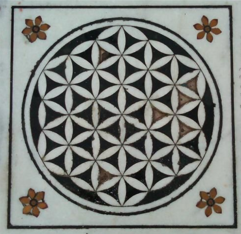 Sikh temple marble decoration